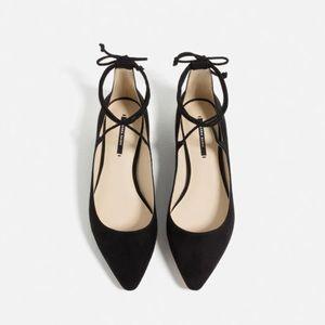 Zara Ankle Wrap Flats
